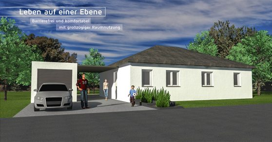 Moselbau GmbH Musterhaus Leben auf einer Ebene